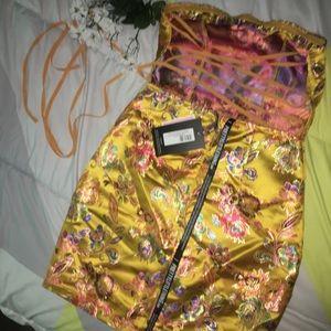 5b99f154ef PrettyLittleThing Dresses -  FINAL SALE  Satin Floral Oriental Bandeau Dress